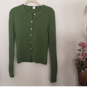 J. Crew green button down sweater